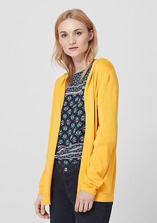 Lehký pletený kabátek s kapucí