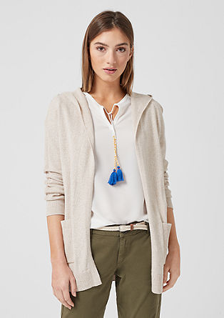 Cardigan with a textured effect from s.Oliver