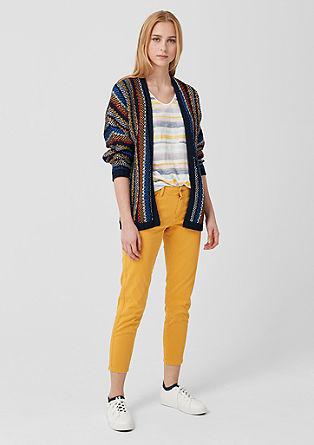 Vest met kleurige strepen