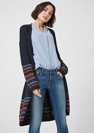 Cardigan with jacquard stripes from s.Oliver