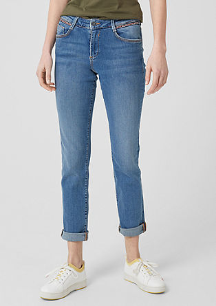 Smart Straight: jeans with ethnic tape from s.Oliver