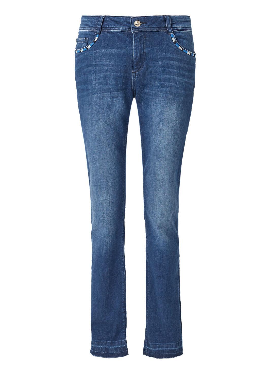 Smart Bootcut: Jeans mit Ethno Detail kaufen   s.Oliver Shop