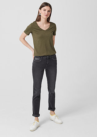 Shape Slim: jeans with rhinestones from s.Oliver