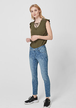 Shape Ankle: patterned jeans from s.Oliver