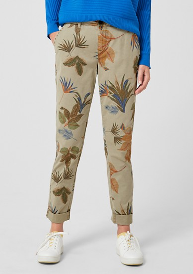 Smart Chino: Hose mit Exotic-Print