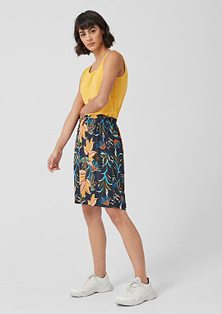 Patterned crêpe skirt from s.Oliver