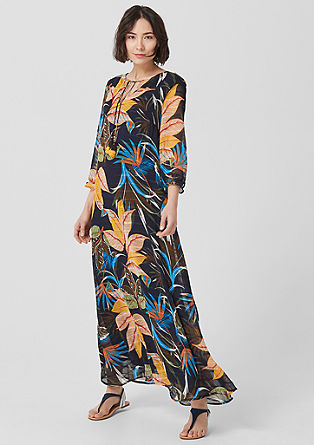 Maxikleid mit Tropical-Print