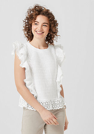 Flounce blouse in batiste fabric from s.Oliver