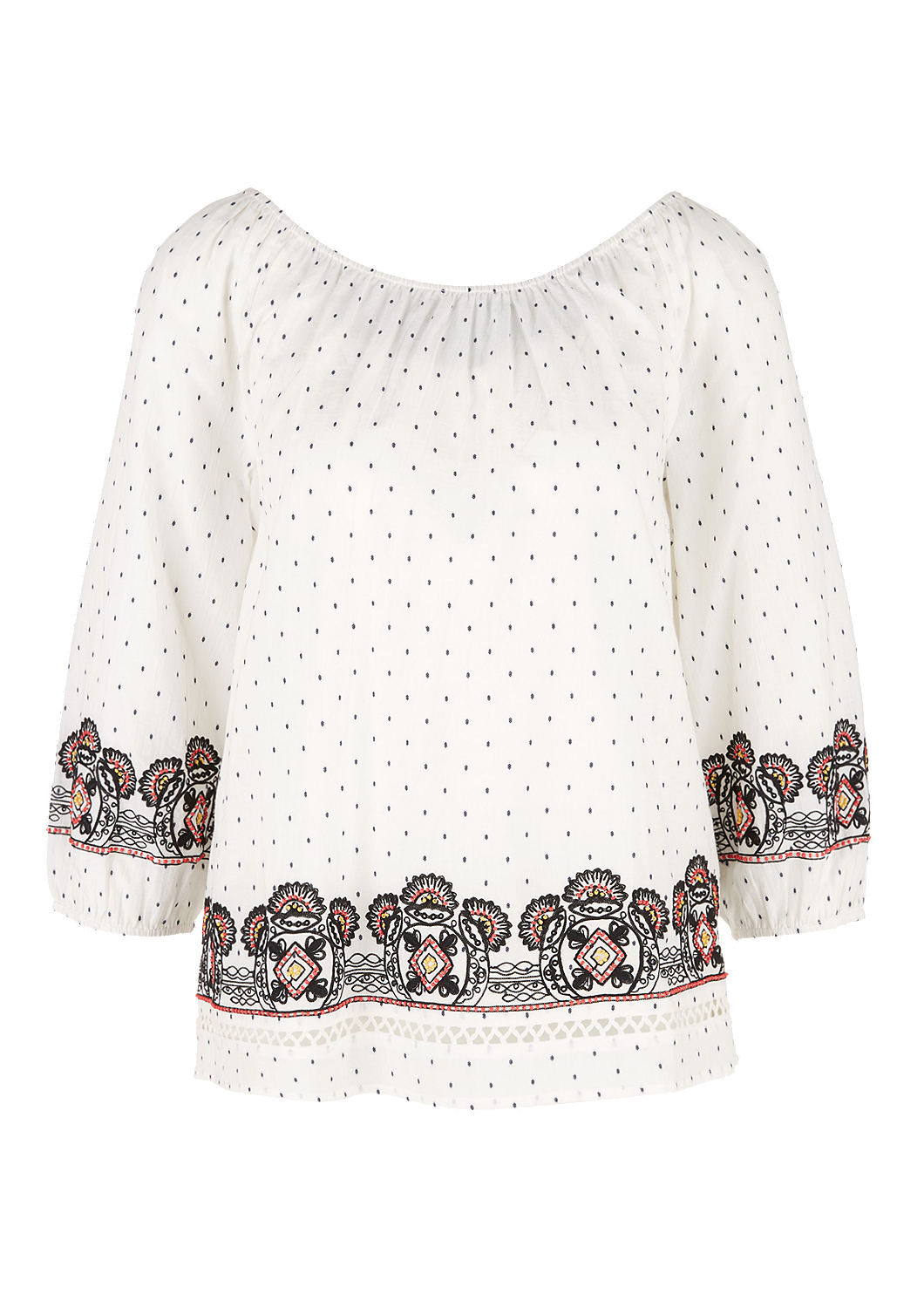 Buy Embroidered off-the-shoulder blouse | s Oliver shop