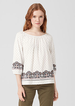 Bestikte off-shoulder blouse