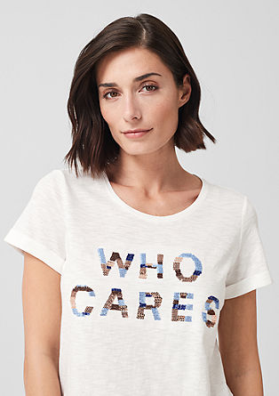 Embroidered print T-shirt from s.Oliver