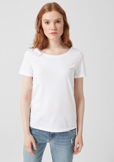 T-shirt met cut-out
