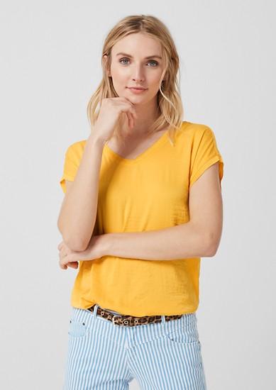 Blusenshirt im Fabric-Mix
