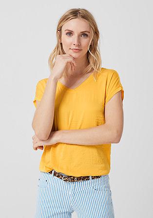 Haut façon blouse arborant un mélange de tissus de s.Oliver