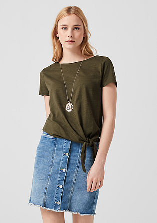 Jersey top with knots from s.Oliver