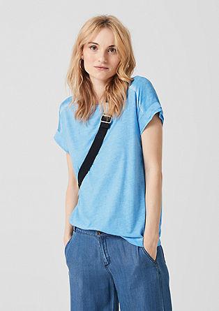 T-Shirt mit Blusen-Details