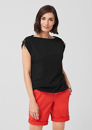 O-Shape-Shirt mit Raffung