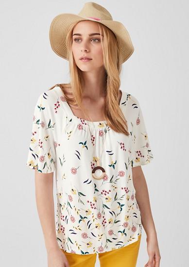 Gemustertes Karree-Shirt