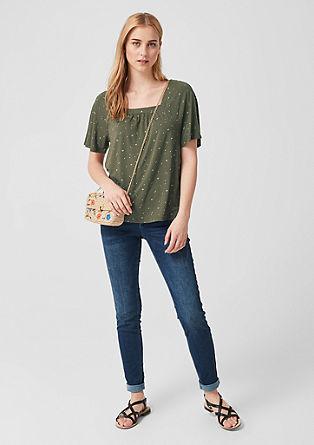 Shirt met motief en carréhals