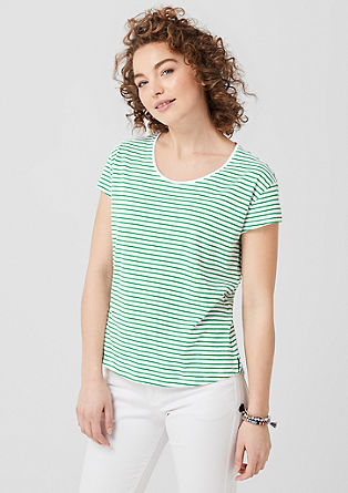 Slub yarn top with stripes from s.Oliver