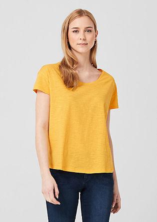 Casual shirt met slubeffect
