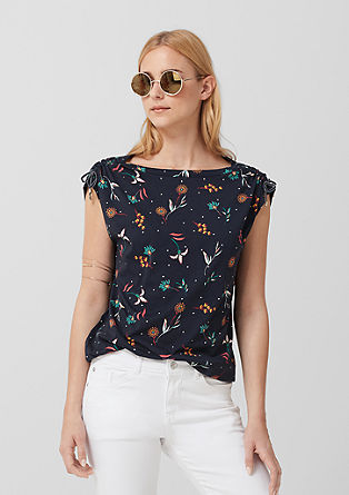 Blouse top with a print pattern from s.Oliver