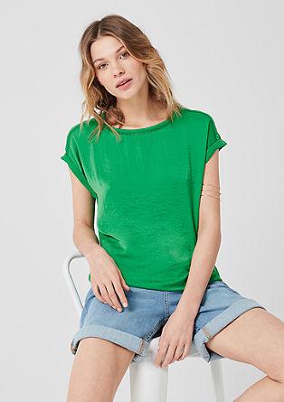 Tričko spředním dílem zesaténu