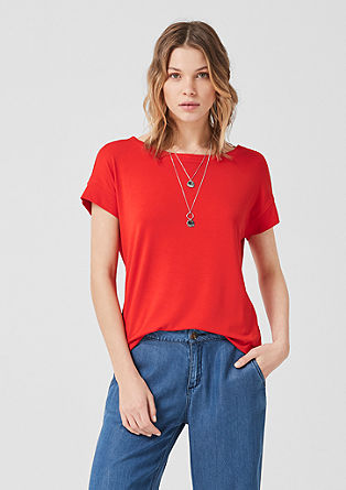 T-shirt met ribboordjes