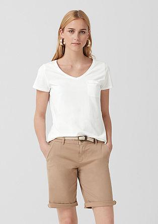 Basic-Shirt mit Fransendetail
