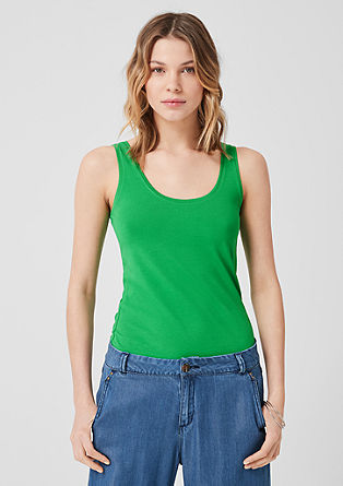 Basic jersey vest top from s.Oliver