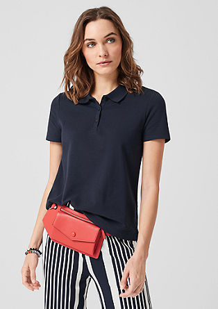 Polo shirt with broderie anglaise from s.Oliver