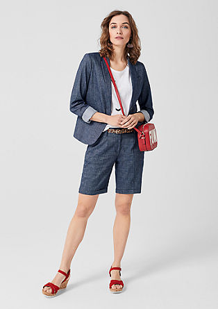 Short linen twill blazer from s.Oliver