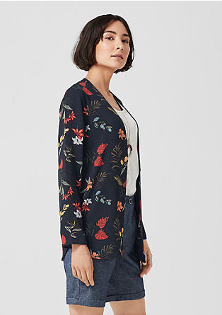 Blouse blazer with an all-over print from s.Oliver