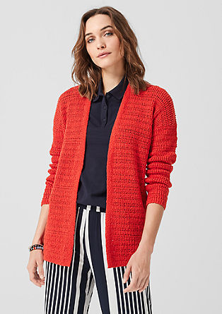 Cardigan with a textured pattern from s.Oliver