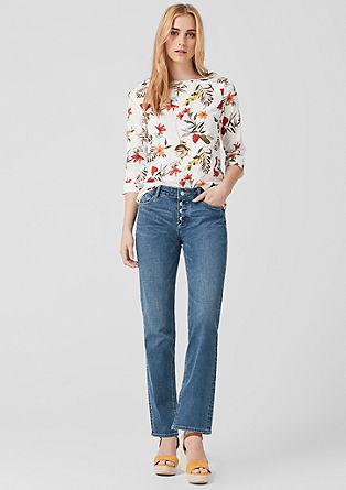 Smart straight: jeans met knoopsluiting