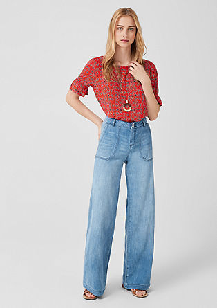 Smart Wide: Marlene jeans with linen from s.Oliver