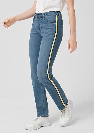 Smart Straight: Jeans mit Streifen