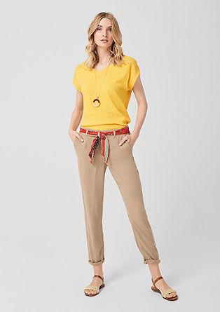 Smart Chino: pantalon à ceinture à nouer de s.Oliver