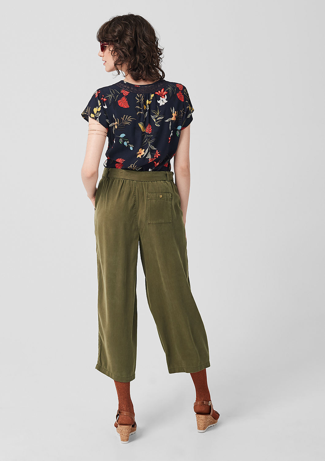 s.Oliver - Culotte: Twillhose aus Lyocell - 3