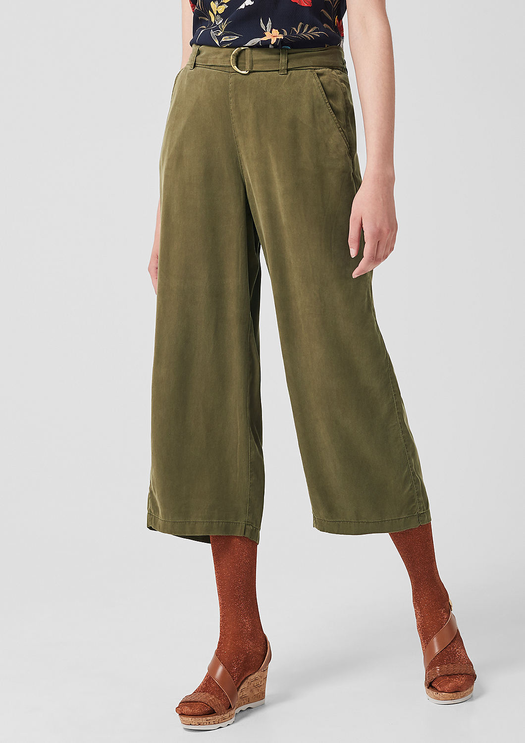s.Oliver - Culotte: Twillhose aus Lyocell - 5