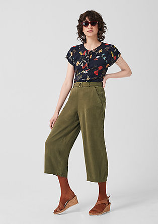 Culottes: twill trousers made of lyocell from s.Oliver