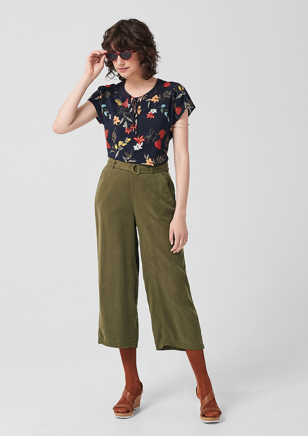 s.Oliver - Culotte: Twillhose aus Lyocell - 2