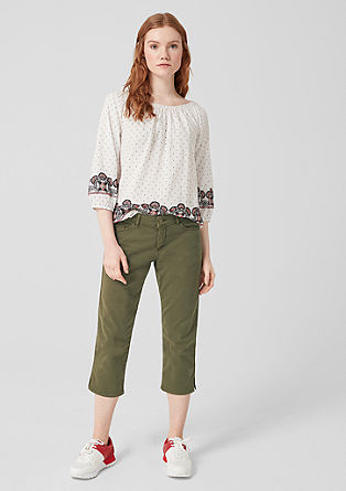 Shape Capri : pantalon en twill stretch de s.Oliver