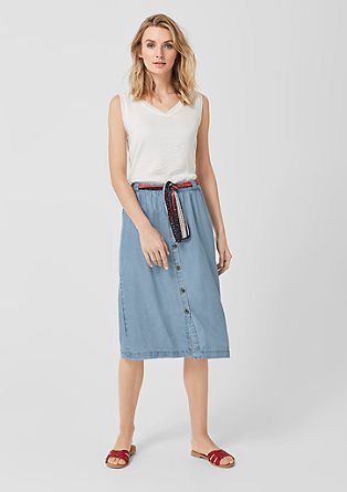 Skirt in lyocell twill from s.Oliver