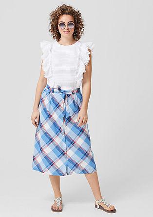 Check midi skirt from s.Oliver