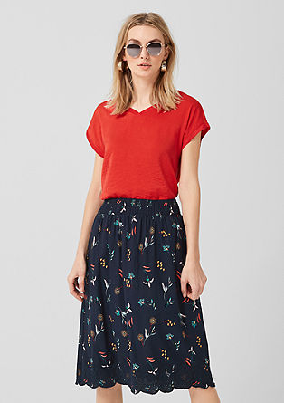Midi skirt with openwork details from s.Oliver