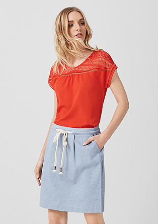 Skirt with braided belt from s.Oliver