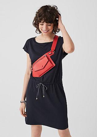 Jerseykleid mit Durchzugband