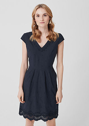 Chambray dress with broderie anglaise from s.Oliver