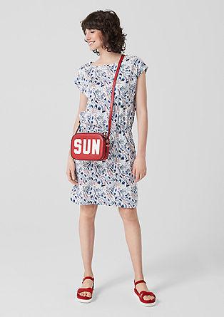 Jersey jurk met motiefprint